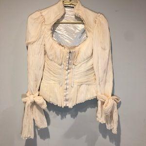 Elie Tahari Runway Giselle Corset Silk Jacket